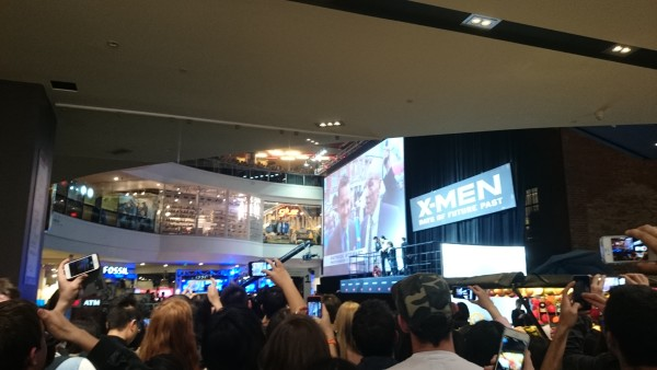 X-MEN Live Premiere at Melbourne Central, Friday 16th  May 2014.